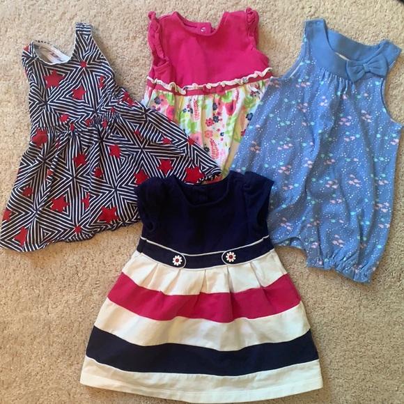 Gymboree baby girl lot 6-12month dresses & romper